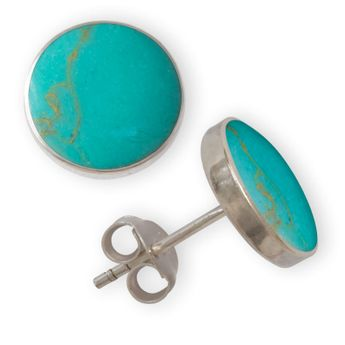 Shell Stone Stud Earrings Sterling Silver 925 – picture 9