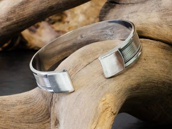 Classic 925 Sterling Silver Bangle Modell Gwen – picture 4