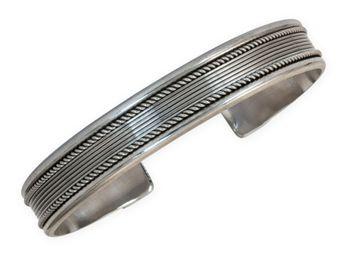 Brazalete clásico de plata de ley 925 Modelo Gwen – picture 3