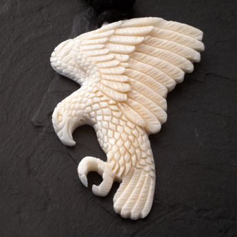Buffalo Bone Eagle Pendant  – picture 2