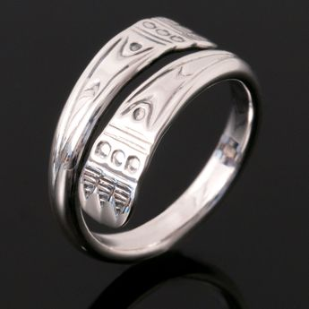 925 silver women's ring adjustable with embossed ornaments in Viking design – picture 4