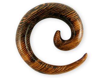 Dehnspirale aus Parasitholz dunkelbraun – Bild 1