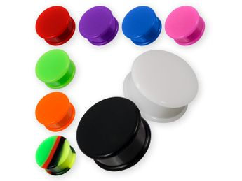 Plain Silicone Plug in different colors & sizes – picture 1