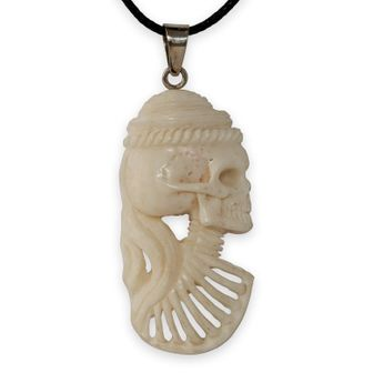 Lady Cameo Bone Pendant – picture 1