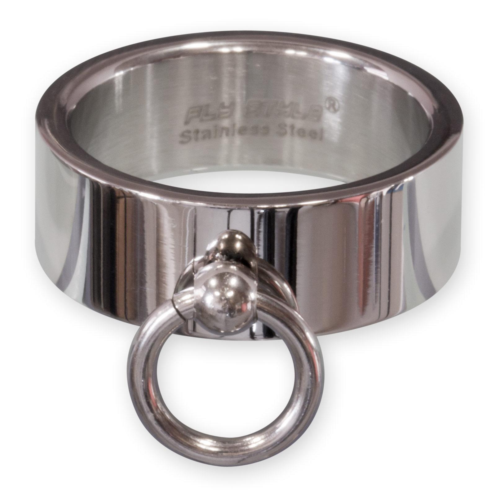 Ring der O Fingerring aus Edelstahl   8mm schmal in silber matt oder poliert