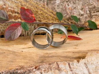 Stainless steel ring 8-12 mm wide, matt or polished – picture 8