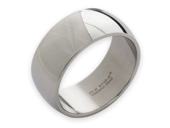 Stainless steel ring 8-12 mm wide, matt or polished – picture 5