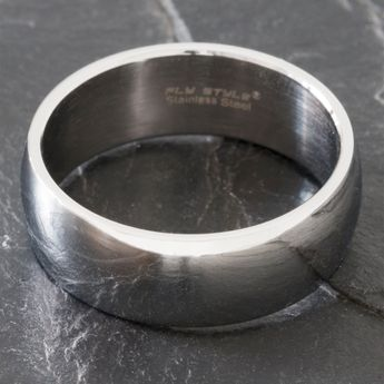 Bandring Edelstahl 8-12 mm breit, matt oder poliert – Bild 11