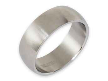Stainless steel ring 8-12 mm wide, matt or polished – picture 2