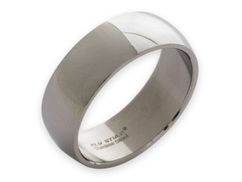 Stainless steel ring 8-12 mm wide, matt or polished – picture 3
