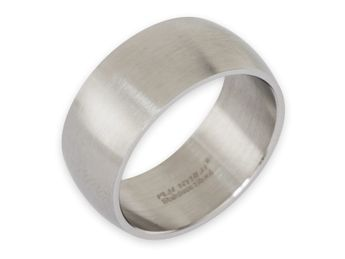 Stainless steel ring 8-12 mm wide, matt or polished – picture 4