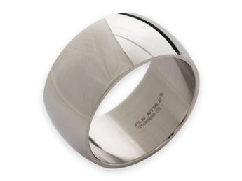Stainless steel ring 8-12 mm wide, matt or polished – picture 6