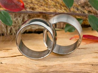 Stainless steel ring 8-12 mm wide, matt or polished – picture 9