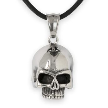Colgante Calavera Clásica Keith Richards con Collar de Caucho – picture 1