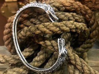 Armreifen 925 Sterling Silber mit Drachenköpfen – Bild 11