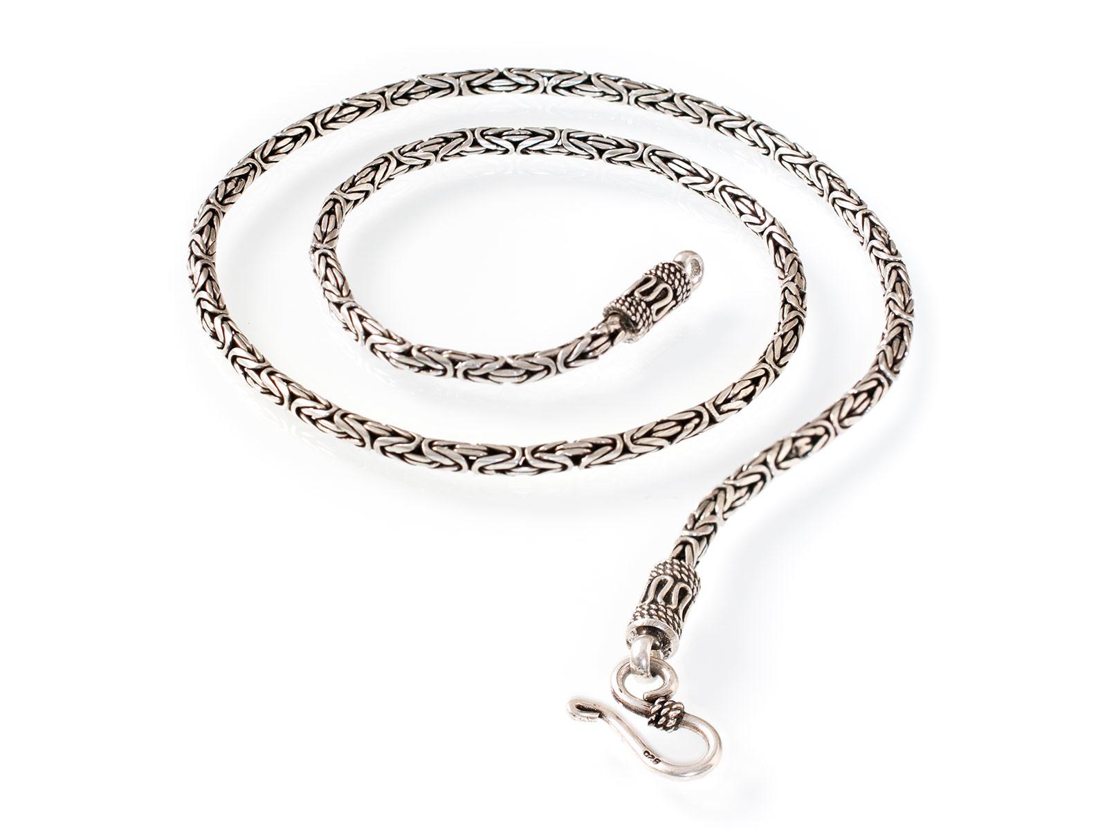 2714fa80b7b2 Cadena Bizantina - Pulsera o Collar de Plata 925 3.2 -10 mm