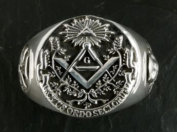 Anillo Acero inoxidable Sello Masónico / Illuminati – picture 2