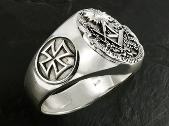 Masonic / Illuminati Signet Stainless Steel Ring – picture 3