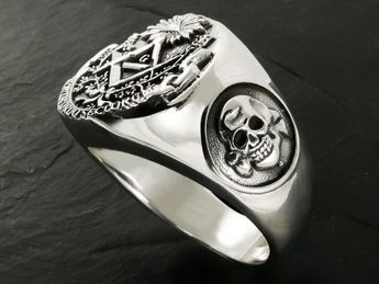 Anillo Acero inoxidable Sello Masónico / Illuminati – picture 4
