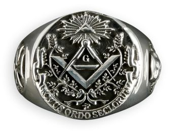 Masonic / Illuminati Signet Stainless Steel Ring
