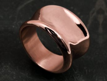 Elegant Curved 316L Stainless Steel Designer Ring – picture 2