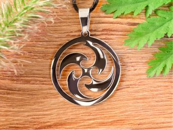 Stainless Steel Amulet - Sun Wheel