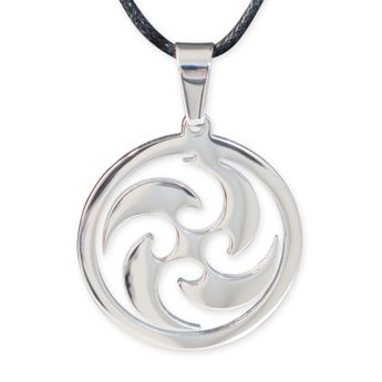 Stainless Steel Amulet - Sun Wheel – picture 3