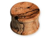 Concave Wood Top Hat Plug - Zebra Tamarind