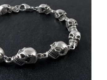 Skull 316L Stainless Steel Bracelet Lobster Clasp  (18-22 cm) – picture 3