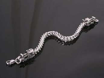 Stainless Steel Dragon Heads Bracelet – picture 3