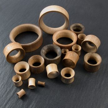 "Flesh Tunnel ""Bamboo"" up to 50 mm – picture 4"