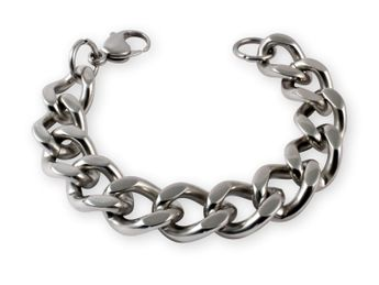 Massive Stainless Steel Armor / Curb Chain - Bracelet or Necklace – picture 1