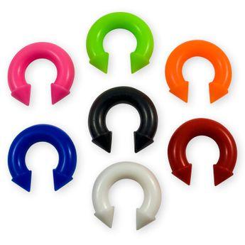 Silikon Ohr Piercing Expander Farb-& Größenauswahl