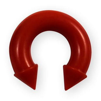 Silicone Circular Barbell with Cones – picture 3
