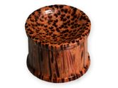 Concave Sugar Palm Wood Ear Plug