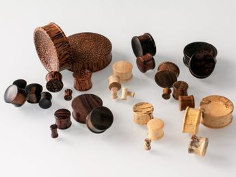 Concave Double Hat Plugs from different Woods – picture 16
