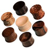Concave Double Hat Plugs from different Woods