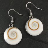 Stainless Steel Earrings with Shiva's Eye