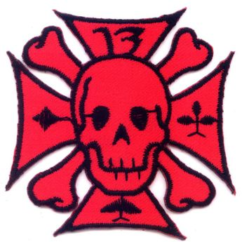 "Patch ""Iron Cross with Skull and Bones"""