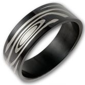 Anillo de Acero Inoxidable - Maori Tribal 001