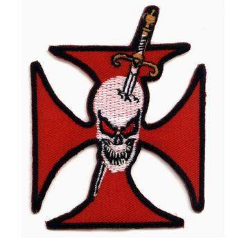 "Patch ""Iron Cross with Skull and Sword"""