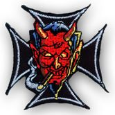"Patch ""Iron Cross with Smoking Devil"" 001"