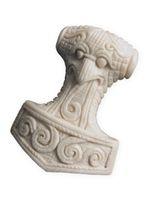 Buffalo Bone Pendant - Schonen Hammer Of Thor / Mjoelnir 001