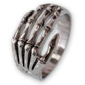 Knochen Hand Ring Silber 925 001