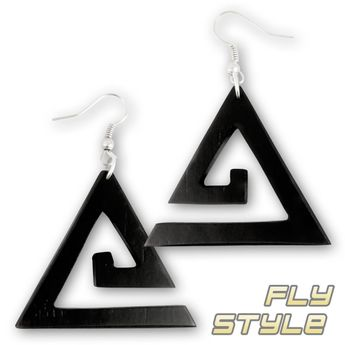 Wood Dangle Earrings - Triangle