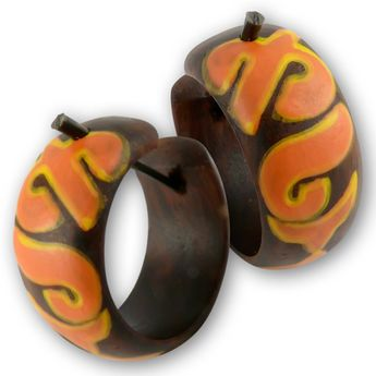 Hoop Earrings from Wood Orange Tribal