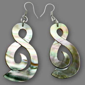 Dangle Shell Earrings - Twister
