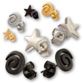 Stainless Steel Earrings - Spiral or Star 001
