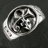 Prince Slave / Bottom Signet Silver Ring 001