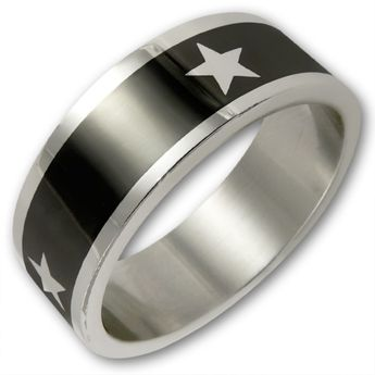 Surgical Steel Ring - Stars